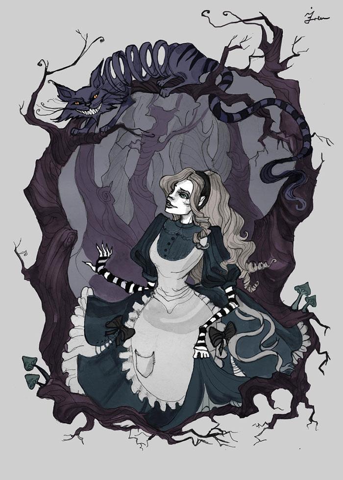 Alice in wonderland anime mad hatter female
