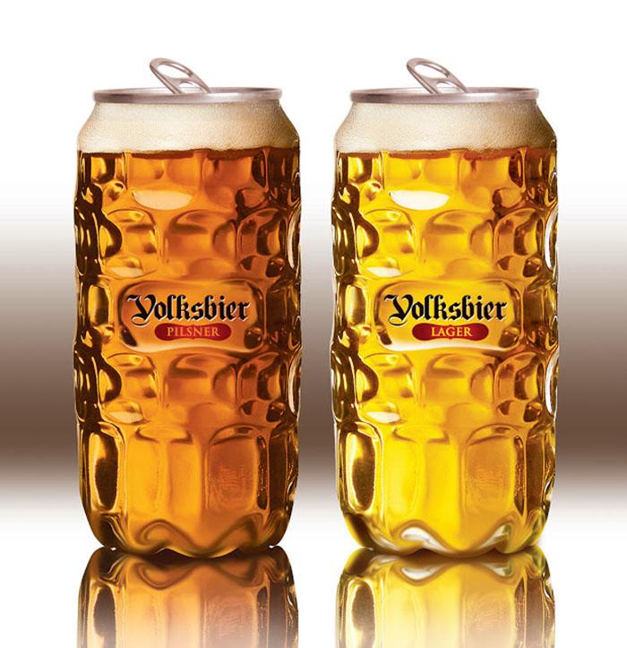 A agência Remark Studio criou essa nova embalagem para a tradicional cerveja Volksbier que imita vidro. Dessa forma, englobaram o tradicionalismo da marca e inovaram ao mesmo tempo!